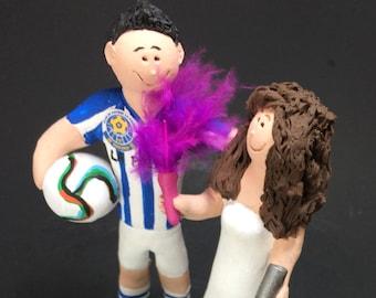 Soccer Groom Wedding Cake Topper,  FIFA Soccer Wedding Cake Topper -  Soccer Bride Wedding Cake Topper