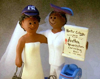African American Lesbian's Wedding Cake Topper, Same Sex Wedding Cake Topper, Gay Women's Wedding Cake Topper, Two Bride Wedding Cake Topper