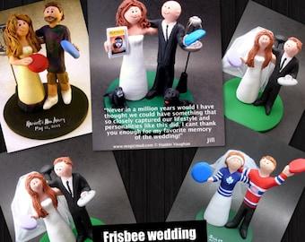 Disc Golf Wedding Cake Toppers, Custom Made Frisbee Golf Wedding Cake Topper - Frisbee Wedding Cake Topper - Custom Wedding Cake Topper