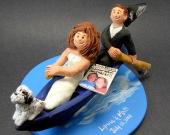 Canoe Wedding Cake Topper, Canoeing Wedding Cake Topper, Canoeists Wedding Cake Topper, Campers Wedding Cake Topper,Kayak Wedding CakeTopper