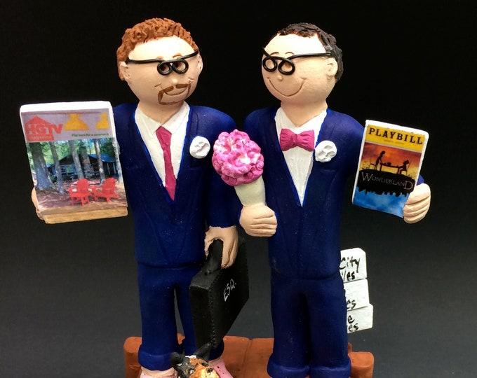 Same Sex Wedding Cake Toppers, Gay Wedding Cake Topper, Two Grooms Wedding Cake Topper - Gay's Wedding Cake Topper
