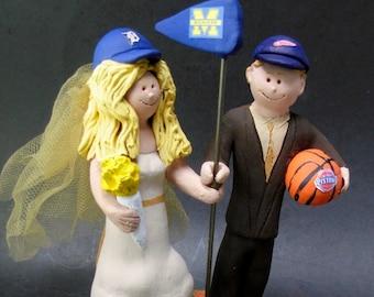 Detroit Tigers Baseball Wedding Cake Topper, University of Michigan Wedding Cake Topper, Detroit Tigers Wedding Anniversary Gift