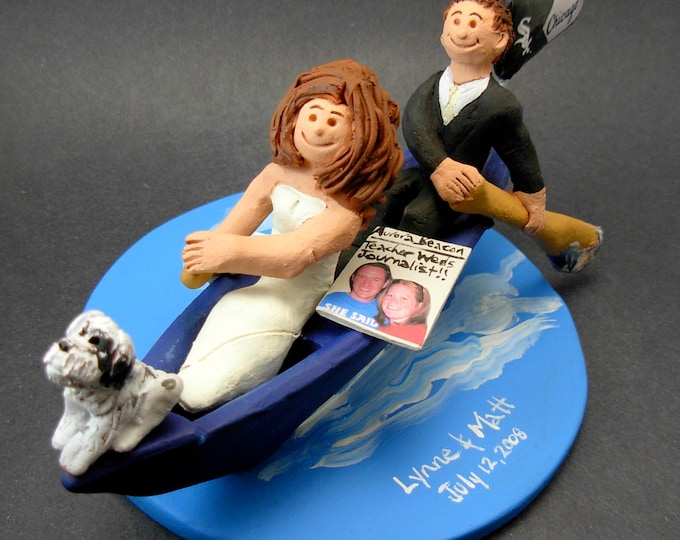 Canoe Wedding Cake Topper, Canoeing Wedding Cake Topper, Canoeists Wedding Cake Topper, Campers Wedding Cake Topper,Kayak Wedding CakeTopper