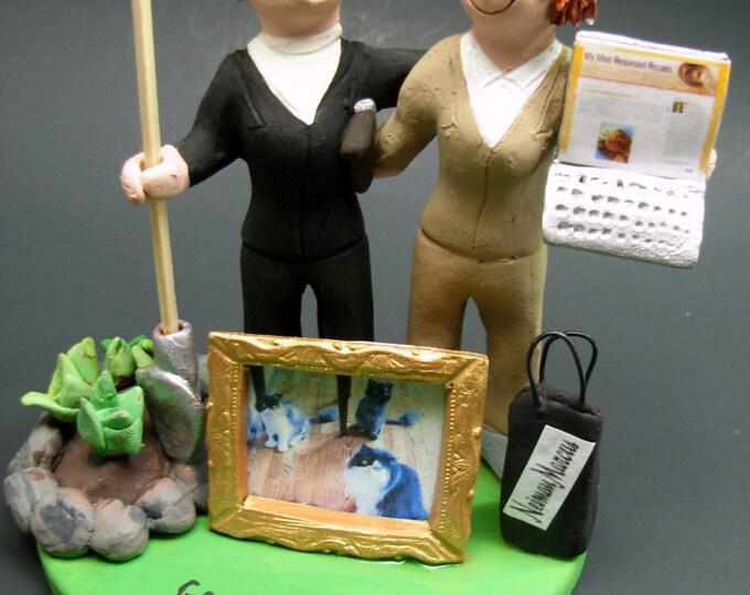 Same Sex Wedding Caketopper for Women, Lesbian Wedding Cake Topper, Gay Wedding Figurine, Same Sex WeddingCake Topper, Gay Womens CakeTopper