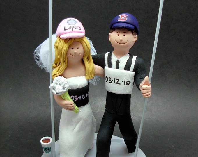 Bride and Groom Marathon Runners Wedding Cake Topper,  Marathon Runners Wedding Cake Topper, Running Bride and Groom Wedding Cake Topper