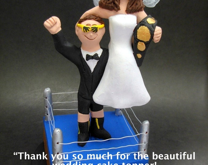 WWF Wrestler's Wedding Cake Topper, Wrestling Belt Wedding Cake Topper, Championship Wrestling Belt Wedding Cake Topper,Wrestlers CakeTopper