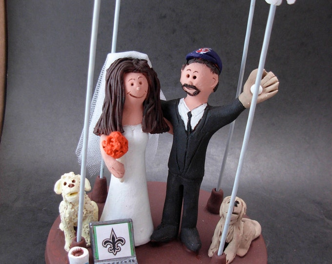 Jewish Marriage Under a Chuppah Wedding Cake Topper, Jewish Wedding CakeTopper, Jewish Marriage Figurine, Custom Jewish Wedding Cake Topper