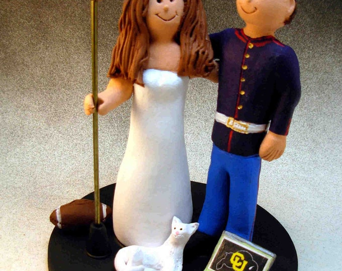 U.S. Marine Wedding Cake Topper,  Soldier's Wedding Cake Topper, Military Wedding Cake Topper, Air Force/Navy Wedding Cake Topper