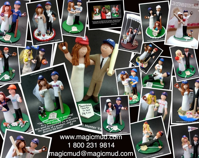 Wedding CakeTopper for Baseball Fan's Marriage, Red Sox Wedding Anniversary Gift,Boston Red Sox Wedding CakeTopper,Baseball Anniversary Gift