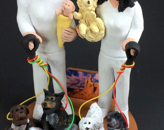 Gay Brides with Baby Wedding Caketopper, Same Sex Wedding CakeTopper, Gay Wedding Figurine, Lesbian Wedding CakeTopper,Gay Womens CakeTopper