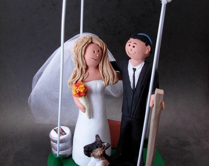 Jewish Wedding Cake Topper, Underneath a Chuppah Wedding Cake Topper, Wedding Cake Topper for a Jewish Marriage, Chuppah Wedding Cake Topper