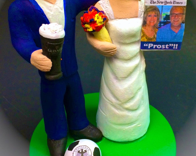 Senior Citizen Bride and Groom Wedding Cake Topper, Custom Made Wedding Cake Topper for Seniors, Wedding Cake Topper for a Second Marriage