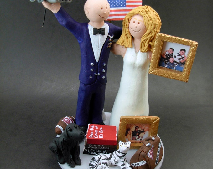 Air Force Pilot Groom In Uniform Wedding Cake Topper, USAF Pilot Wedding Anniversary Gift/Cake Topper, Air Force Pilot Wedding CakeTopper