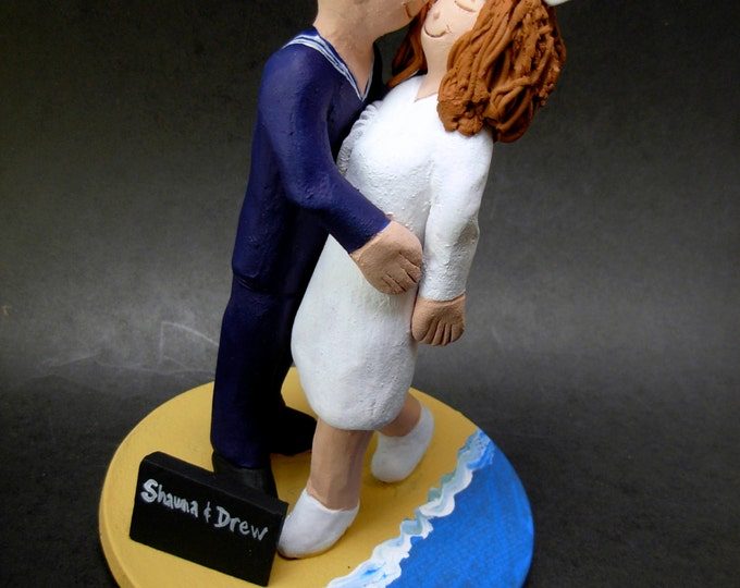 Navy Sailor Wedding Cake Topper , Soldier's Wedding Cake Topper, Nurse's Wedding Cake Topper, Air Force/Navy/ Marine's Wedding Cake Topper