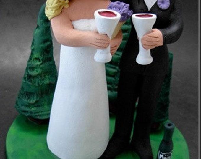 Gay Bride in Tuxedo Wedding Caketopper, Lesbian Wedding Cake Topper, Gay Wedding Figurine, Same Sex Wedding Cake Topper,2 Brides Cake Topper