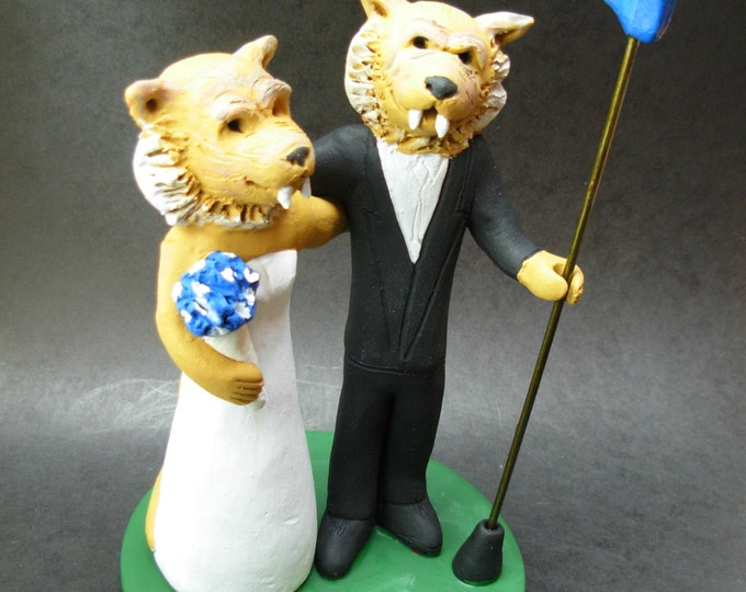 Cougars Football Wedding Cake Topper, Shasta Cougar Wedding Cake Topper, Arizona Cougar Wedding Cake Topper