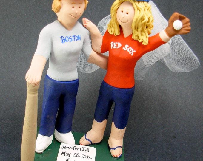 Lesbian Baseball Players Wedding Caketopper , Lesbian Wedding Cake Topper, Gay Wedding Figurine, Same Sex WeddingCake Topper, Gay Caketopper