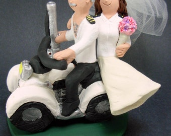 ATV Riders Wedding Cake Topper, ATV Riders Wedding Anniversary Gift, Off Road Riders Wedding Anniversary Gift,