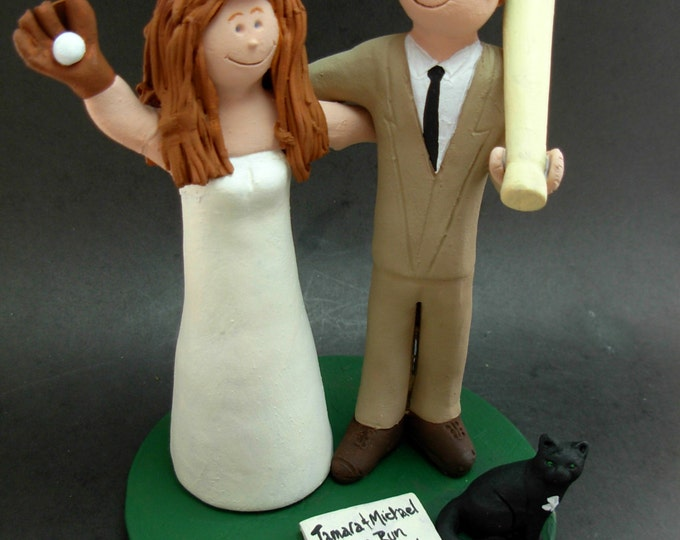 L.A. Angels Wedding Cake Topper, N.Y. Yankees Baseball Wedding Cake Topper, N.Y . Yankees Wedding Anniversary Gift, Yankees Marriage Statue