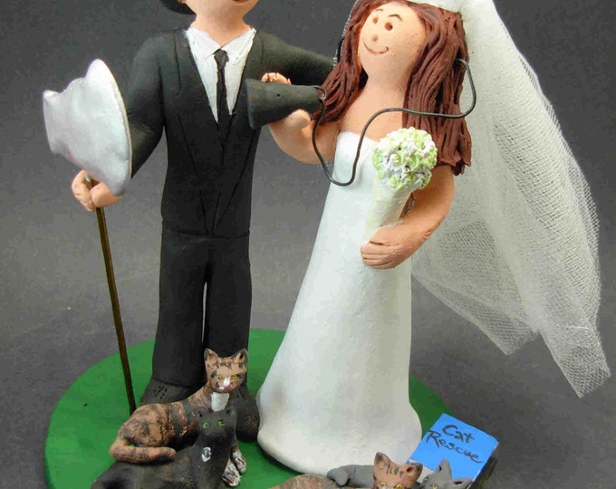 Fireman Marries Nurse Wedding Cake Topper, Fireman Wedding Cake Topper, Nurses Wedding CakeTopper, Fireman Wedding Figurine for Cake