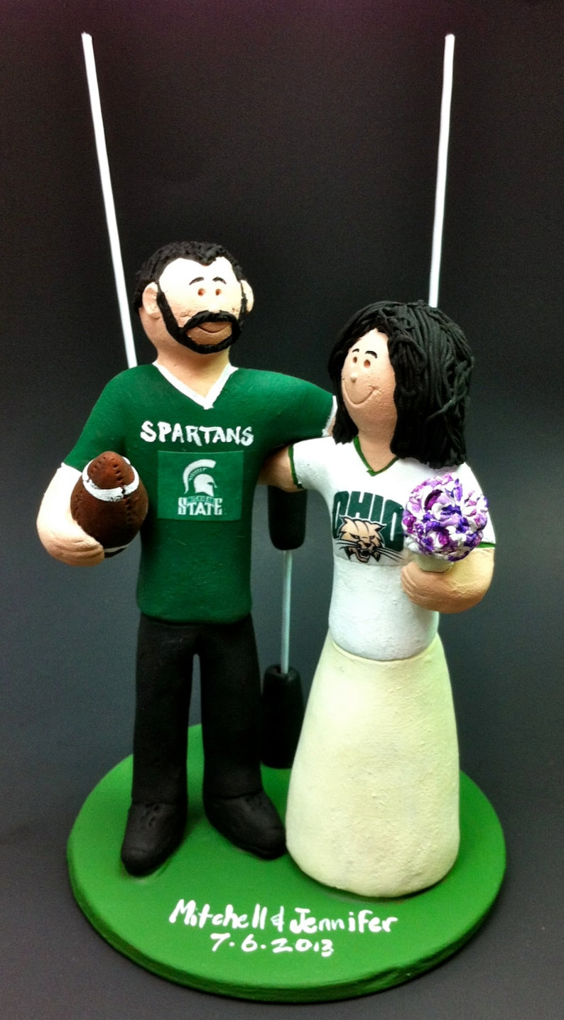 Michigan State Spartans Groom Wedding Cake Topper Ohio  483f9af97