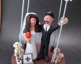 Jewish Marriage Under a Chuppah Wedding Cake Topper, Jewish Wedding CakeTopper, Jewish Marriage Figurine, Custom Jewish Wedding Cake Topper