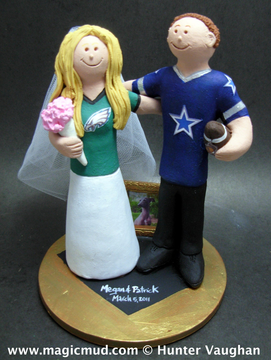 ... Football Team Bride and Groom Wedding Cake Topper. gallery photo ... 1bbdc9f12