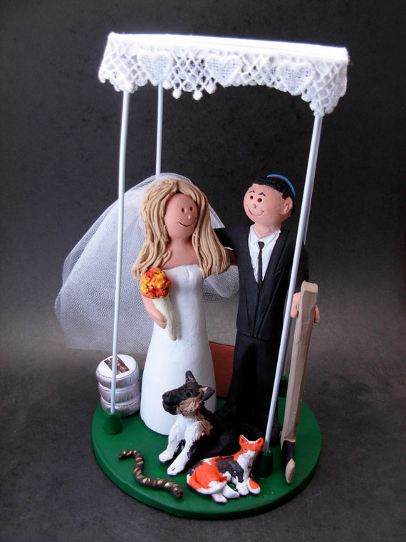 Jewish Wedding Cake Topper Underneath A Chuppah Wedding