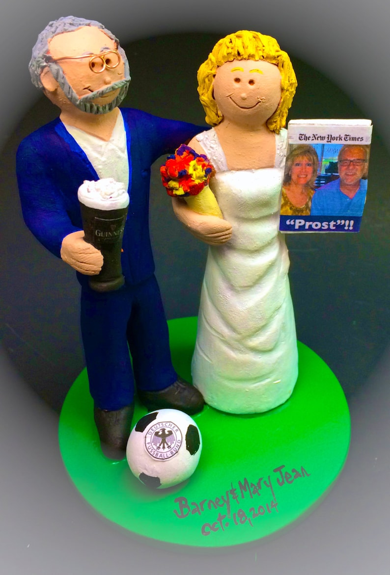 Senior Citizen Bride and Groom Wedding Cake Topper Custom  39f0e4bbc