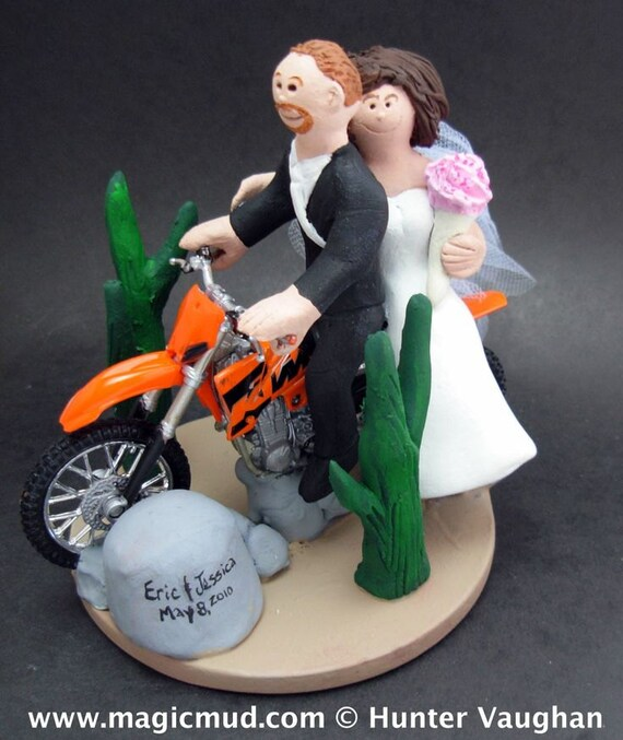 KTM Wedding Cake Topper Dirt Bike Motorcycle Wedding Cake | Etsy