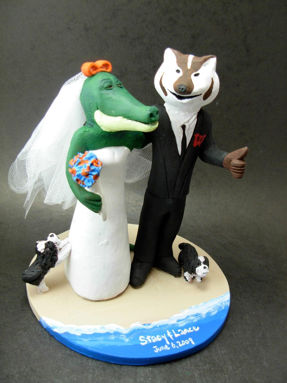 Badger And Gator Wedding Cake Topper Wedding Cake Topper For