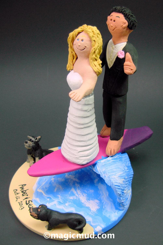 Astounding Biracial Surfers Wedding Cake Topper Wedding Anniversary Gamerscity Chair Design For Home Gamerscityorg