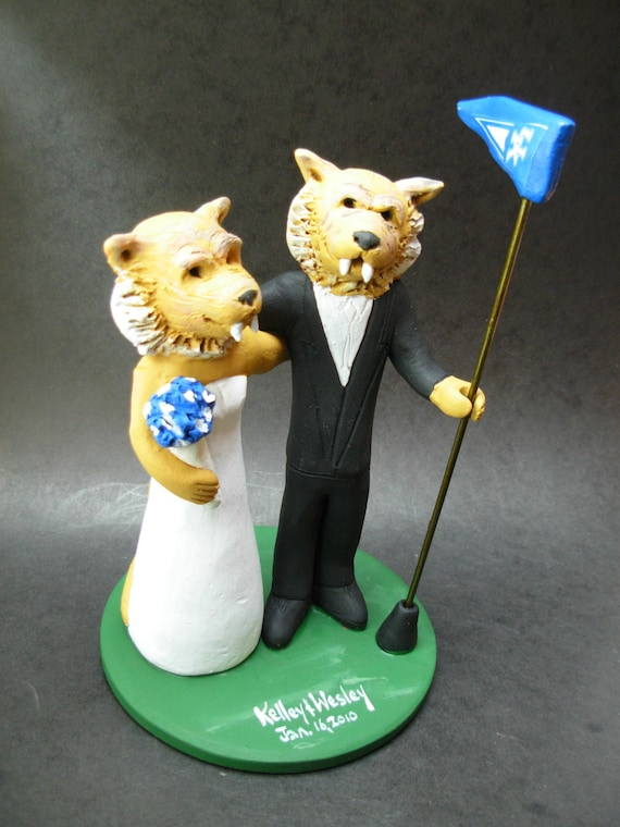 Cougars Football Wedding Cake Topper Shasta Cougar Wedding Etsy
