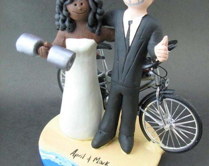 Caucasian Groom Marries African American Bride Wedding Cake Topper, African American Bride Wedding Anniversary Gift,Wedding Anniversary Gift