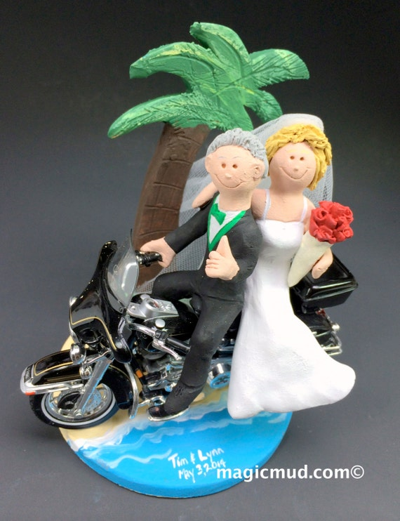 harley davidson wedding cake toppers canada tropical destination harley motorcycle wedding cake topper 15078