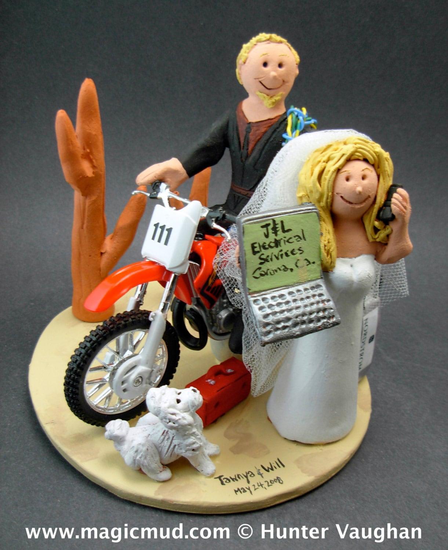 Honda Dirt Bike Wedding Cake Topper , Anniversary Gift for Honda ...