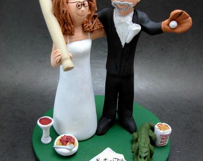 Phillies Wedding Cake Topper, Yankees Bride Baseball Wedding Cake Topper, Phillies Wedding Anniversary Gift, MLB Baseball Wedding Gift