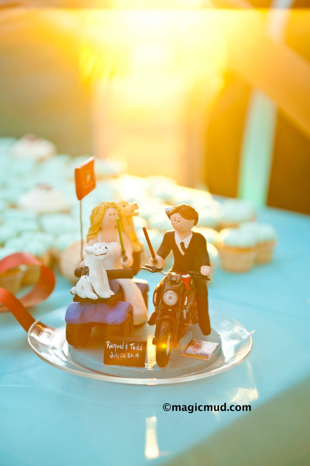 Jedi\'s Light Sabre Wedding Cake Topper - Custom Made Motorcycle ...