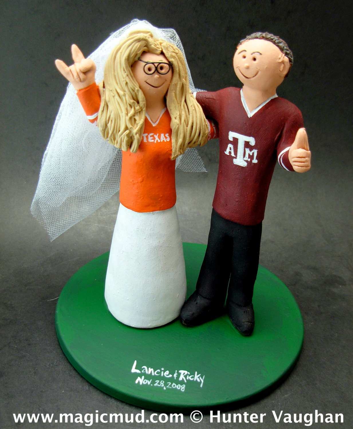 Texas Aggies A M Football Wedding CakeTopper a91acc7a5