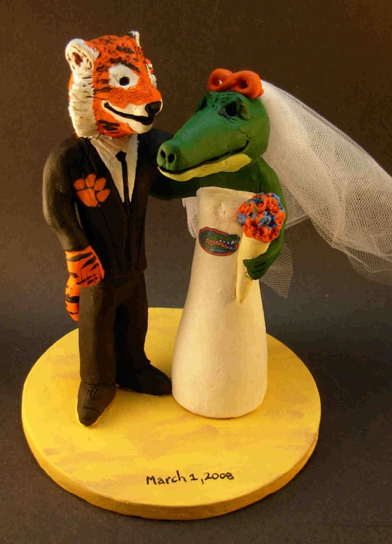 Clemson Tiger Groom Marries Florida Gator Bride Alligator | Etsy