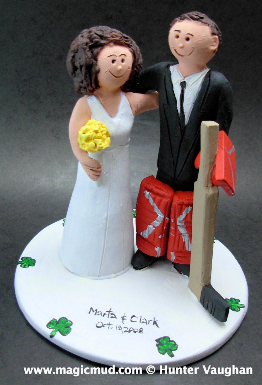 Hockey Goalie Groom Wedding Cake Topper Hockey Bride And