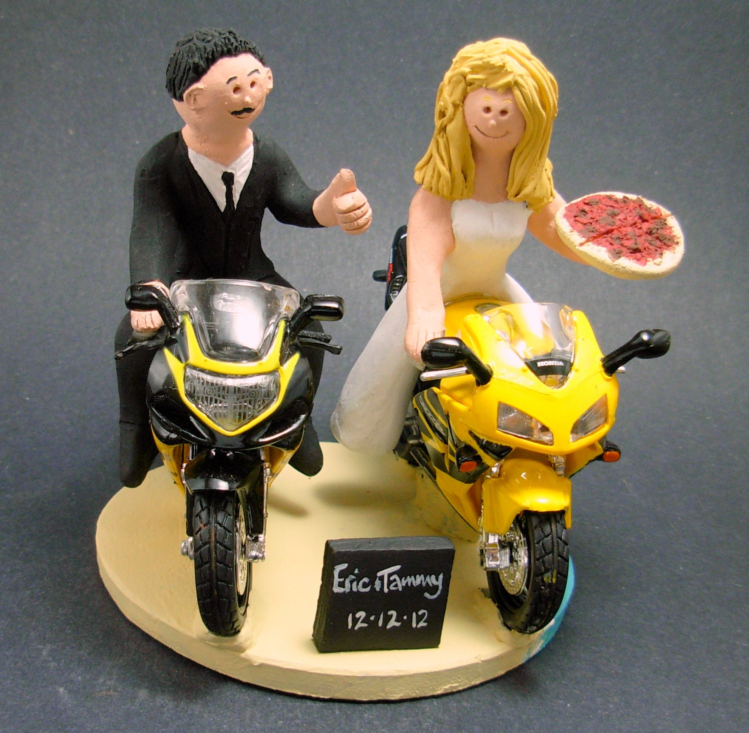 Sportbike Motorcycle For Bride And Groom Wedding Cake Topper Motorcycle Wedding Cake Topper Motorcycle Riders Wedding Cake Topper