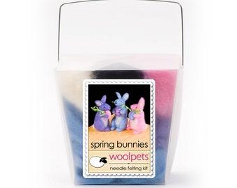 Spring Bunnies Needle Felting Kit