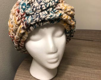 Rainbow Cable Crochet Earwarmer / Headband