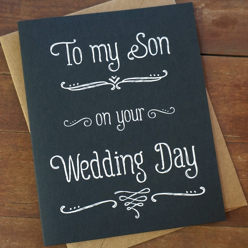 Son Wedding Gift for Son in law Gift  To My Son On Your image 0