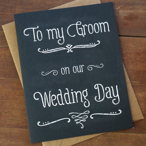 Groom Gift From Bride To Groom Card To My Groom On Our Wedding Etsy