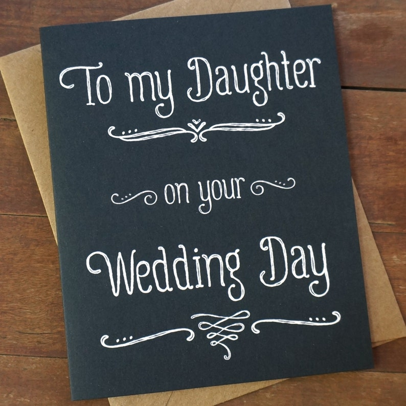 Daughter Wedding Day Card My Daughter Card To My Daughter On image 0