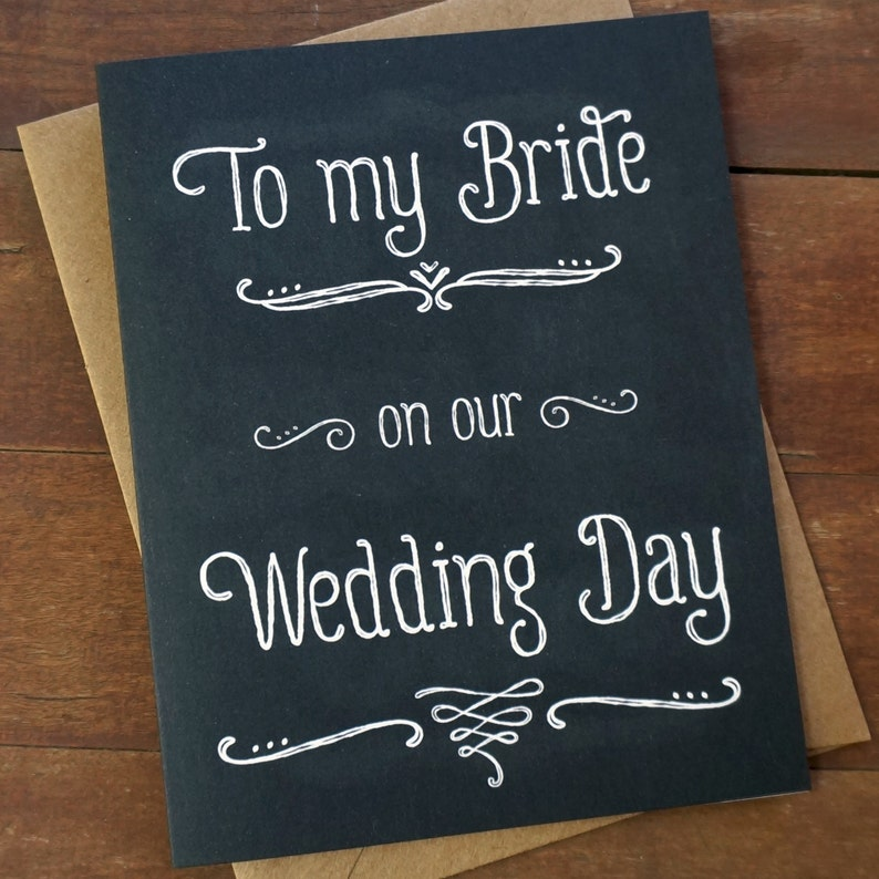 To my Bride Card Groom to Bride Card To My Bride On Our image 0