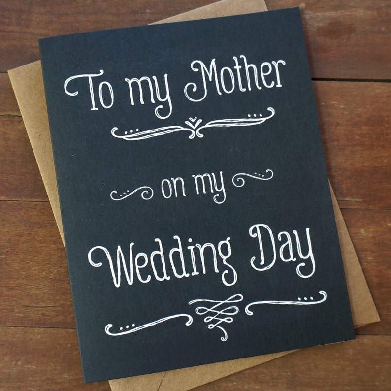 Mother of the Bride Card  To My Mother On My Wedding Day image 0