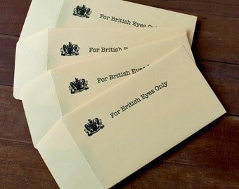 For British Eyes Only - Gift Card Holder - Arrested Development - Funny Birthday Gift Envelopes - Letterpress Printed Bitcoin Accepted BTC